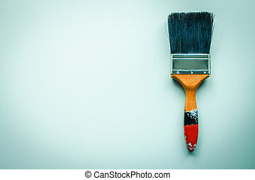 Paint brush. - Paint brush on paper background.