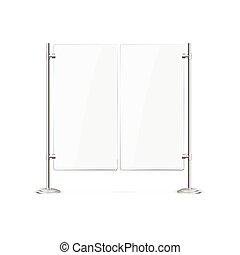 Double Blank Glass Door. Vector - Double Blank Glass Door...