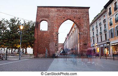 San Lorenzo columns, Milan - MILAN, ITALY - JUNE, 17: View...