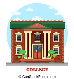 Facade of national college corpus for secondary or higher...