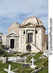 pueblo, viejo, Bonifacio, cementerio, criptas, mausoleo,...