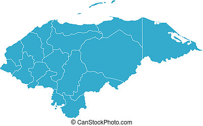 Honduras country - There is a map of Honduras country