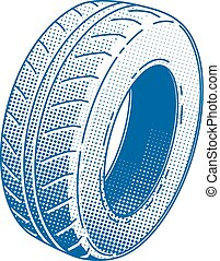 Car tire rubber wheel vector illustration service automobile...