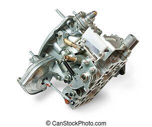 Carburetor - Carborator from car engine, isolated on white
