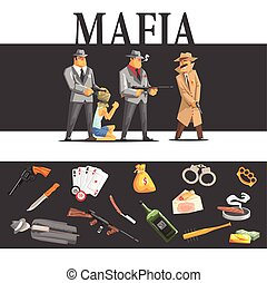 Mafia Taking Hostage And Their Equipment Cool Colorful...
