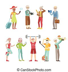 Cool And Active Old People