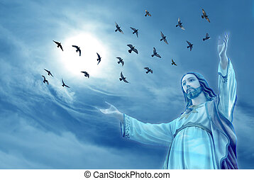 Doves carried the souls of deceased people to heaven - Doves...