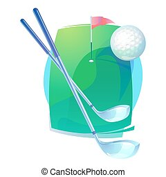 Golf gear or equipment that contains irons or hybrid,...