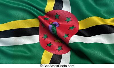 Dominica flag seamless loop - Seamless loop of Dominica flag...