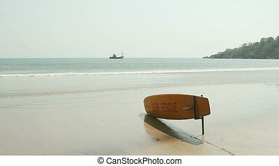 Surf Rescue surfboard on the beach - Beach Surf Rescue...