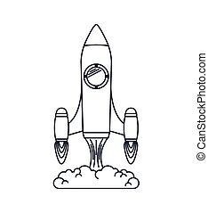rocket launcher isolated icon design, vector illustration...