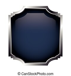 frame with silver border isolated icon design