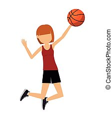 female athlete practicing  isolated icon design