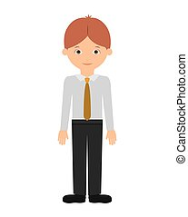 man standing isolated icon design, vector illustration...