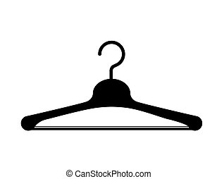clothes hanger hook isolated icon design