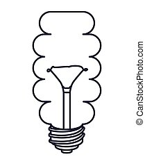 saver bulb drawn isolated icon design