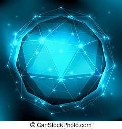 Abstract Geometric Background - Three-dimensional polygonal...