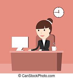 The Business Situation - Business situation. Businesswoman...