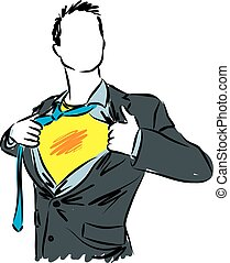 businessman super hero illustration