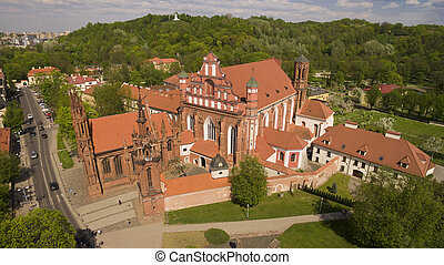 Aerial shot of St. Anna's Church