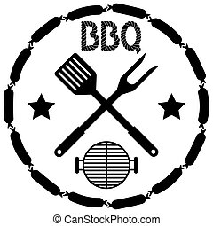 Style BBQ Barbecue Menu Stamp