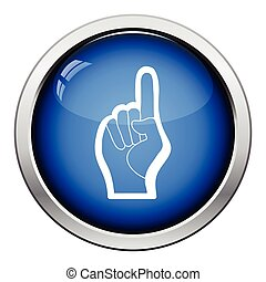 Fan foam hand with number one gesture icon