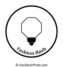 Icon of portable fashion flash Thin circle design Vector...