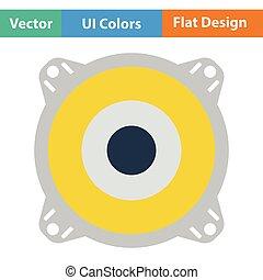 Loudspeaker icon Flat color design Vector illustration