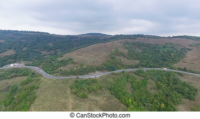 green hills of the area from a bird's flight