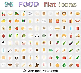 food flat icons vector illustration