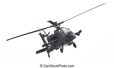 LEEUWARDEN, THE NETHERLANDS - JUN 11, 2016: Boeing AH-64...