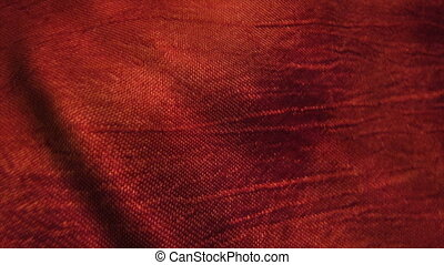 Red silk fabric blowing in the wind. Seamless loop