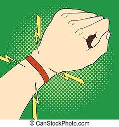 Sports strap gps navigation on hand