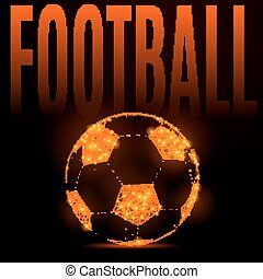 football fire ball - Abstract mash line and point football...