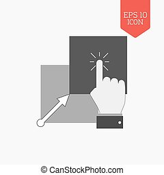 Copy, paste icon Flat design gray color symbol Modern UI web...