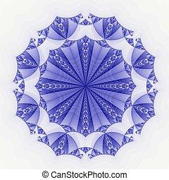 Colored fractal background - Blue Colored fractal pattern...