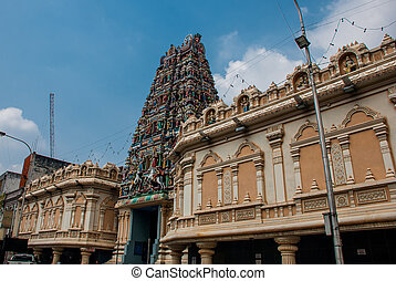 The Indian temple.. Kuala Lumpur, Malaysia.
