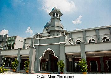 Mosque. Kuala Lumpur, Malaysia. - Mosque on a background...