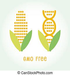 Genetically Modified Organisms GMO FREE symbol emblem icon...