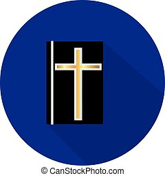 Flat icon religious cross.Vector