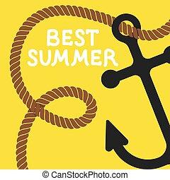 poster summer vector illustration