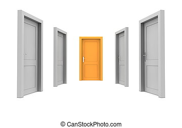 Choose the Orange Door