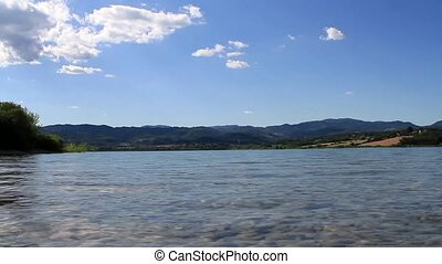 Summer landscape on Bilancino's lake in Tuscany - Summer...