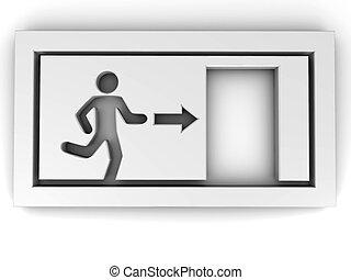 Sign exit 3d