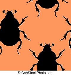 beetle seamless illustration - Creative design of beetle...