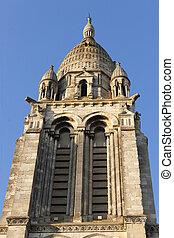 christian church spire - the sainte marie de la bastide...