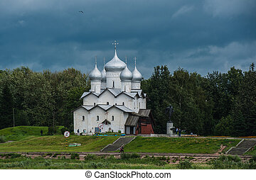 Old Russian church in Yaroslavl, Russia at summer