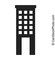 building construction silhouette icon vector isolated...