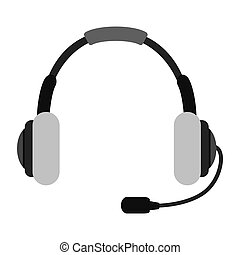 headset headphone microphone icon