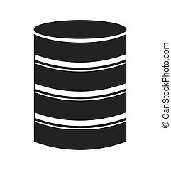 hard disk storage icon vector isolated graphic
